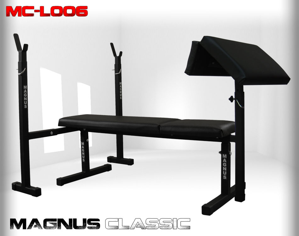 Straight workout bench Magnus Classic MC-L006