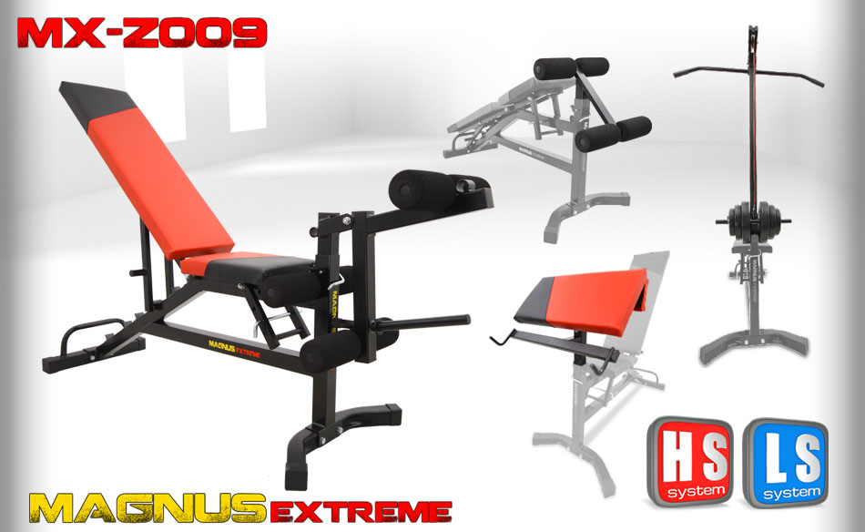 Adjustable workout bench Magnus Extreme MX-Z009