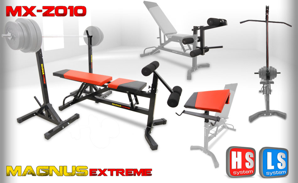 Adjustable workout bench Magnus Extreme MX-Z010