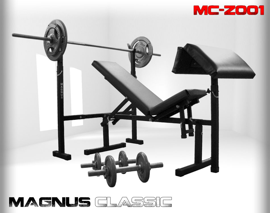 Bench with weight set 85 kg Magnus Classic MC-Z001