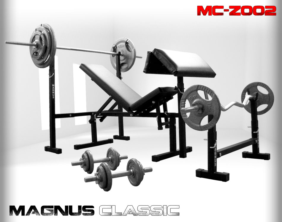 Bench with weight set 111 kg Magnus Classic MC-Z002