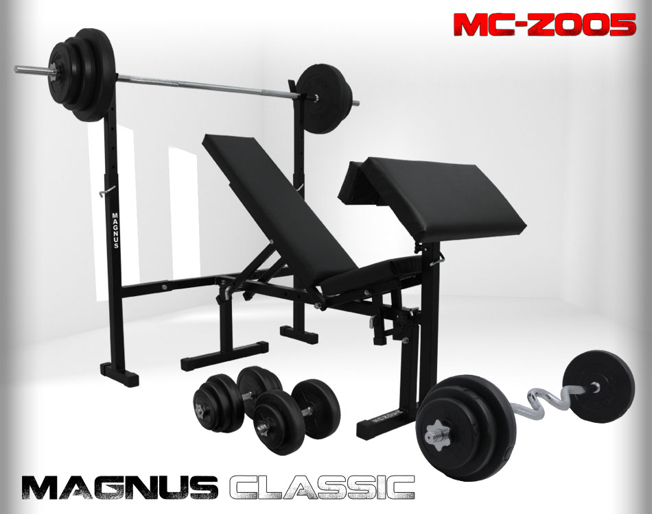 Bench with weight set 102 kg Magnus Classic MC-Z005