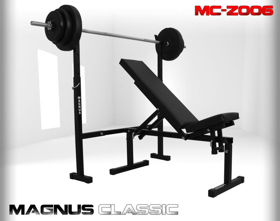 Bench with weight set 55 kg Magnus Classic MC-Z006