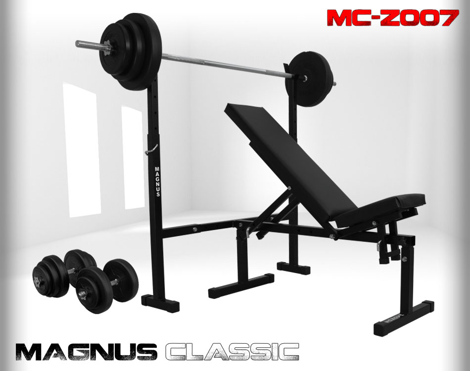 Bench with weight set 69kg Magnus Classic MC-Z007