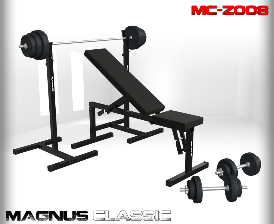 Bench with weight set 84 kg Magnus Classic MC-Z008
