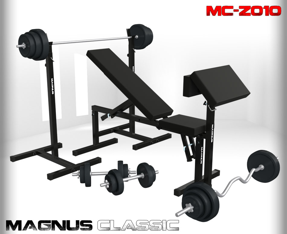 Bench with weight set 151 kg Magnus Classic MC-Z010