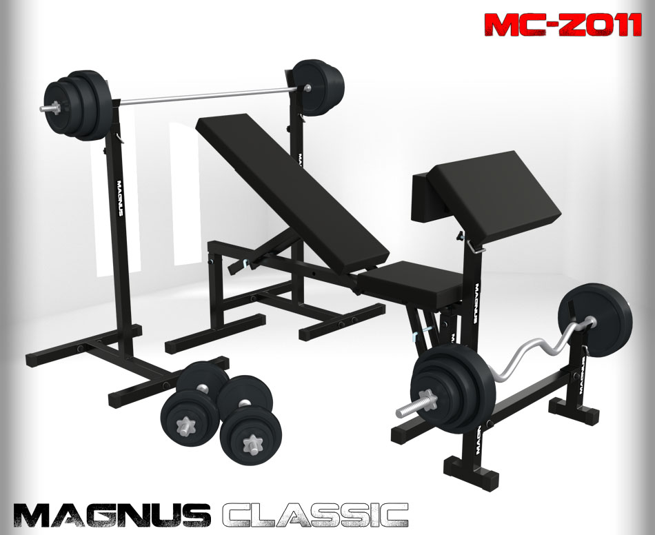 Bench with weight set 201 kg Magnus Classic MC-Z011