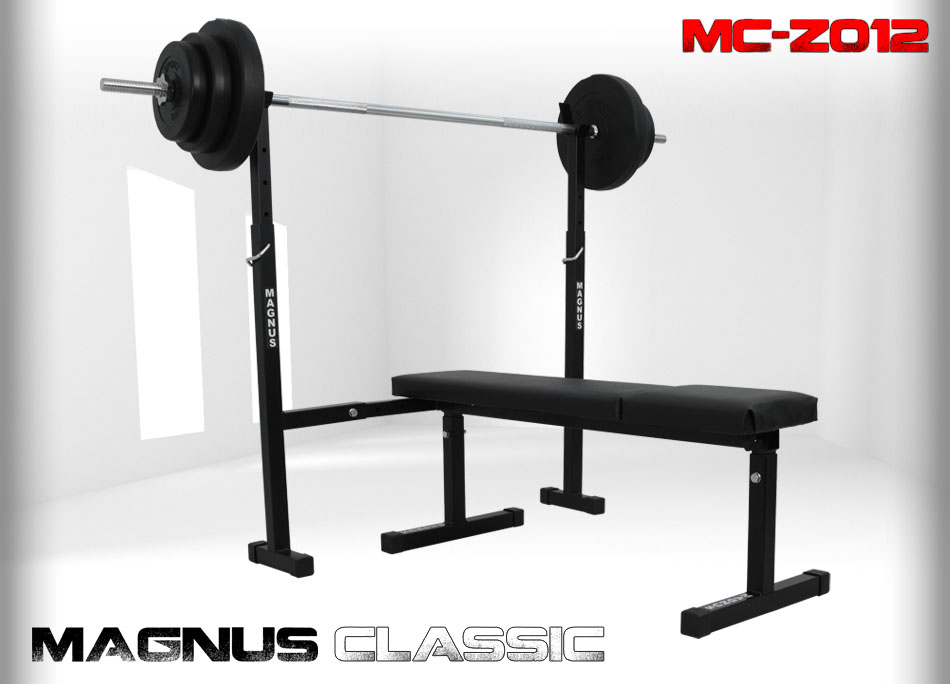 Bench with weight set 51kg Magnus Classic MC-Z012
