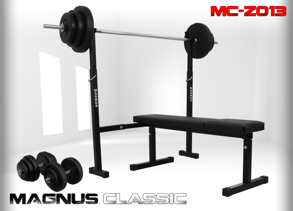 Bench with weight set 69kg Magnus Classic MC-Z013