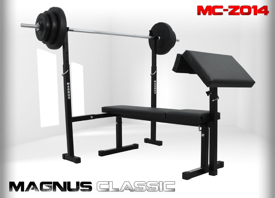 Bench with weight set 57kg Magnus Classic MC-Z014