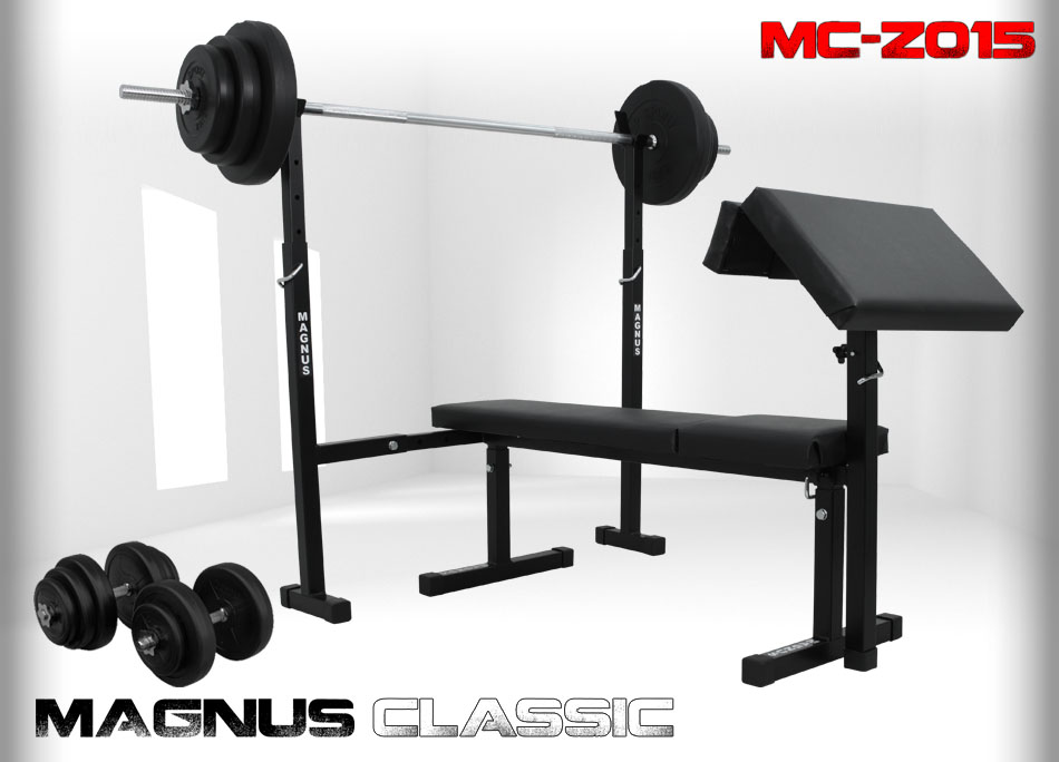 Bench with weight set 91kg Magnus Classic MC-Z015
