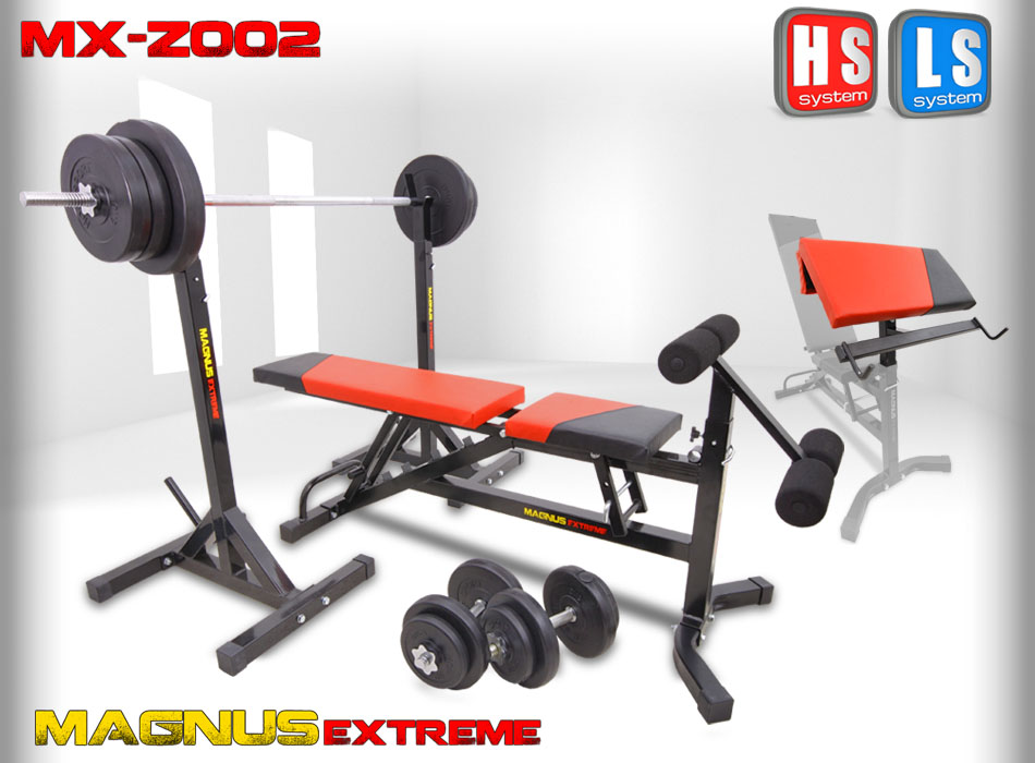 Bench with weight set Magnus Extreme MX-Z002 126 kg