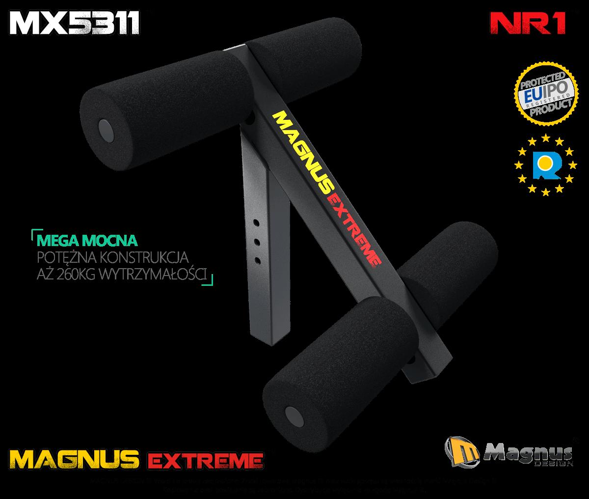 Blokada do ćwiczeń mięśni brzucha Magnus MX5311