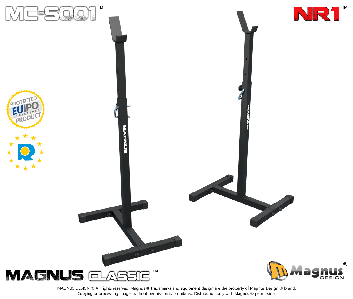 Training stands for barbell Magnus Classic MC-S001