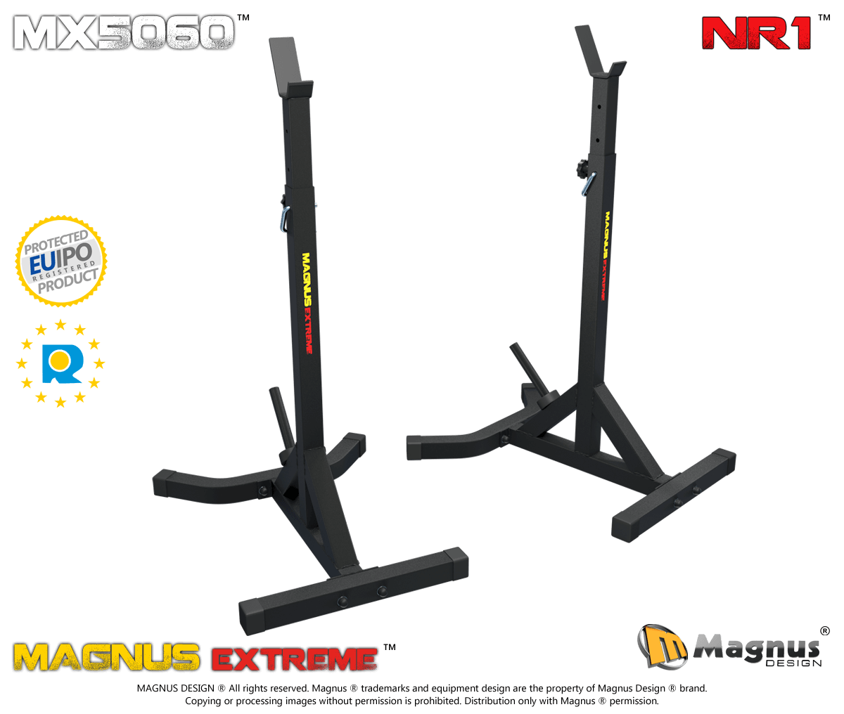 Training stands for barbell Magnus Extreme MX5060