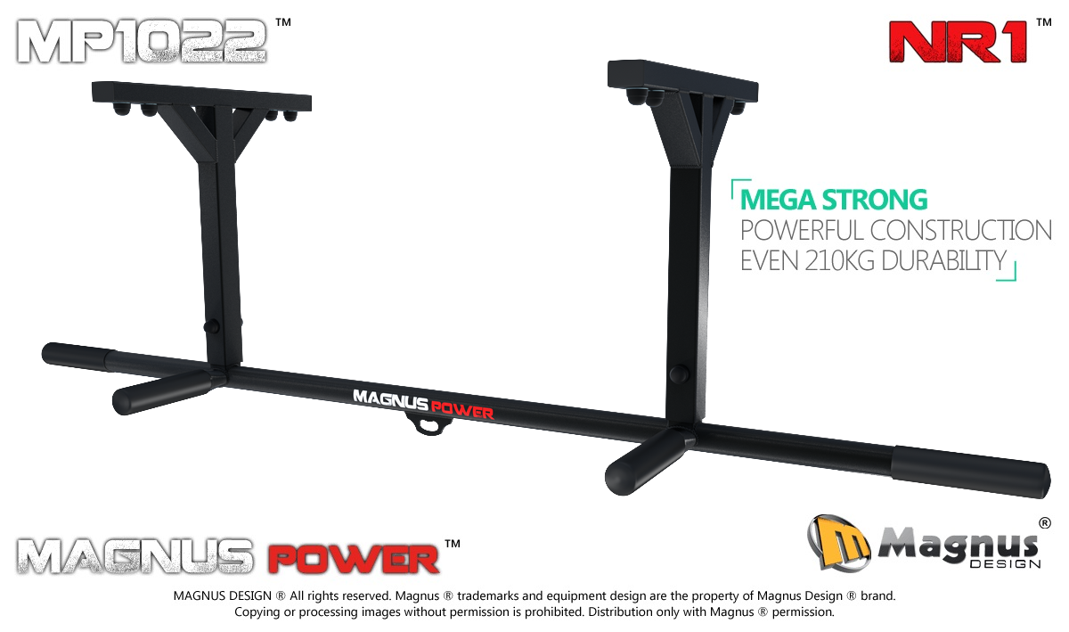 Ceiling mounted pull up bar Magnus MP1022 for exercises