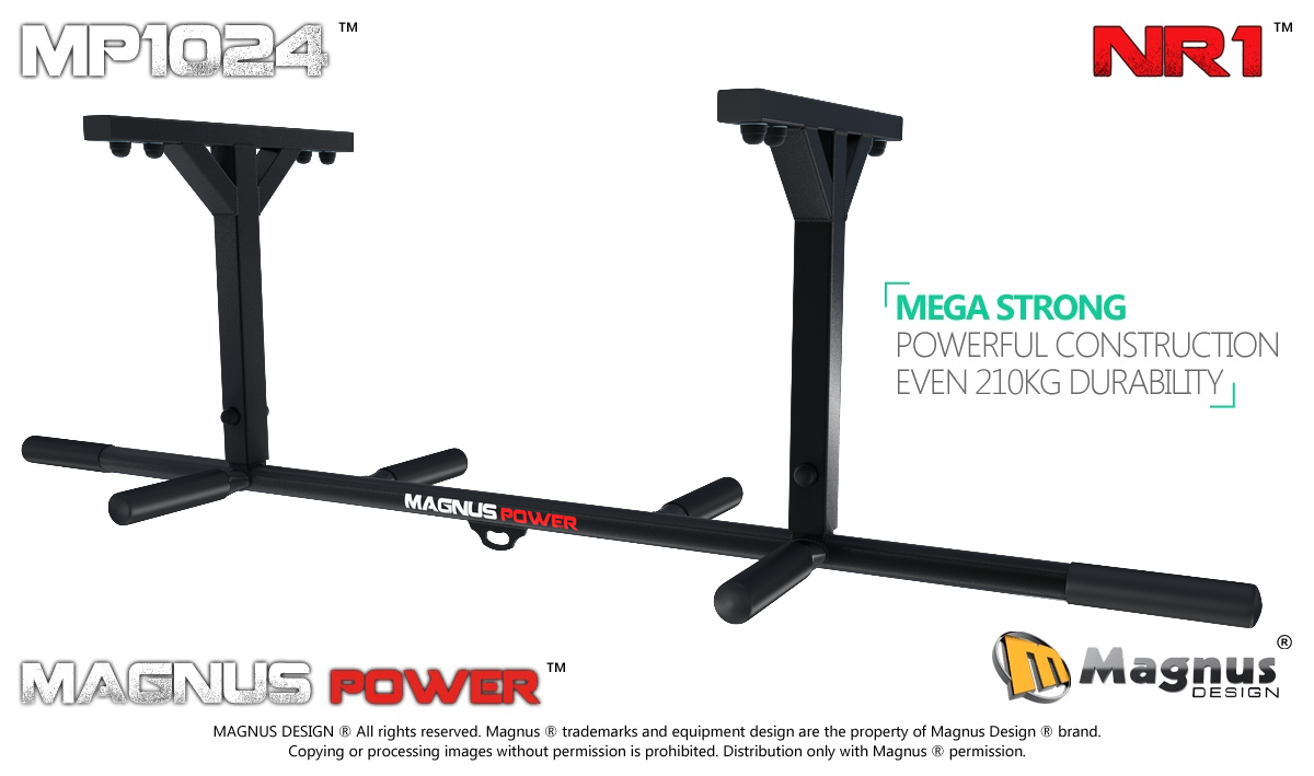 Ceiling mounted pull up bar Magnus MP1024 for exercises