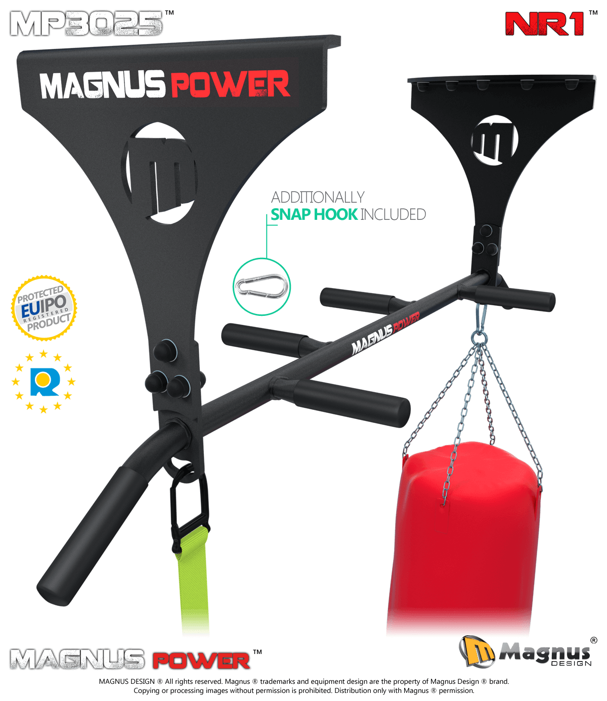 MAGNUS ® MP3025 Laser pull up bar for ceiling NR1