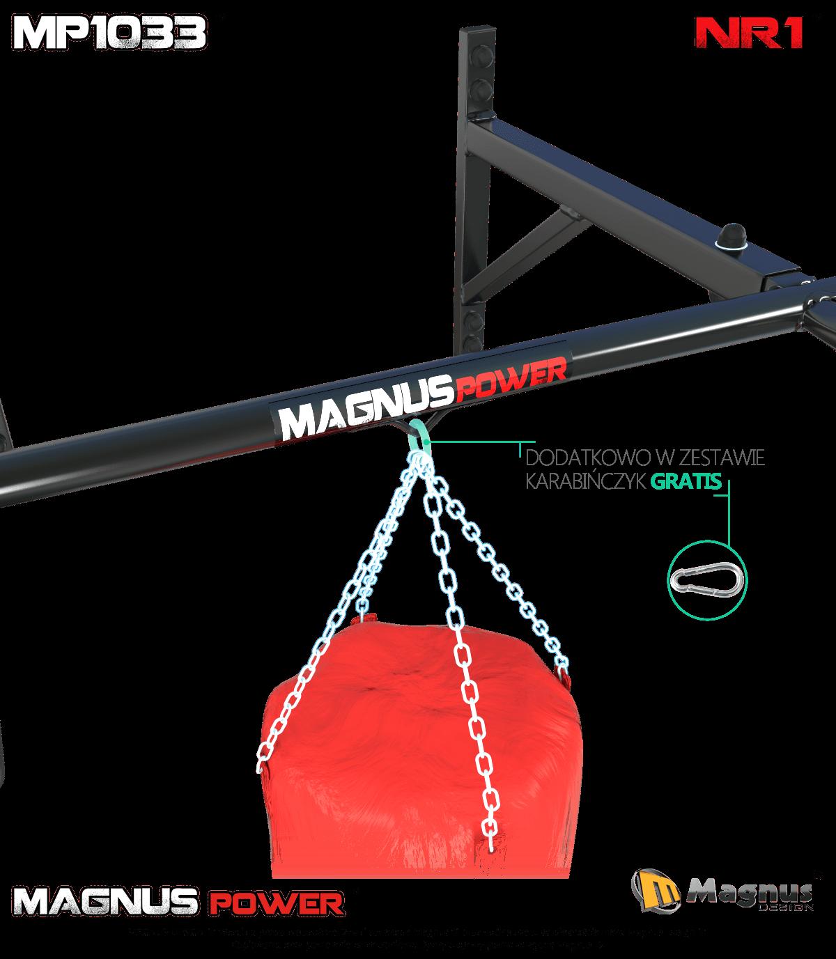 Podciąganie na drążku Magnus, trening z workiem bokserskim, pasy TRX, ćwiczenia TRX