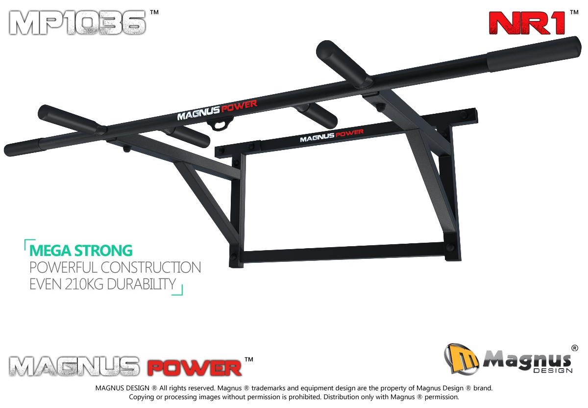 Wall mounted pull up bar Magnus MP1036 for exercises