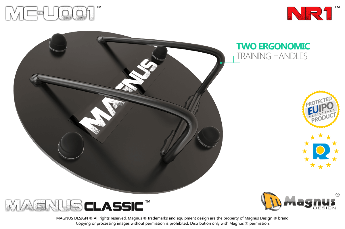 Ergonomically designed Magnus training handle, comfortable exercises with Magnus