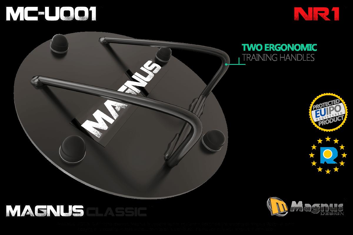 Ergonomically designed Magnus training handle, comfortable exercises with Magnus