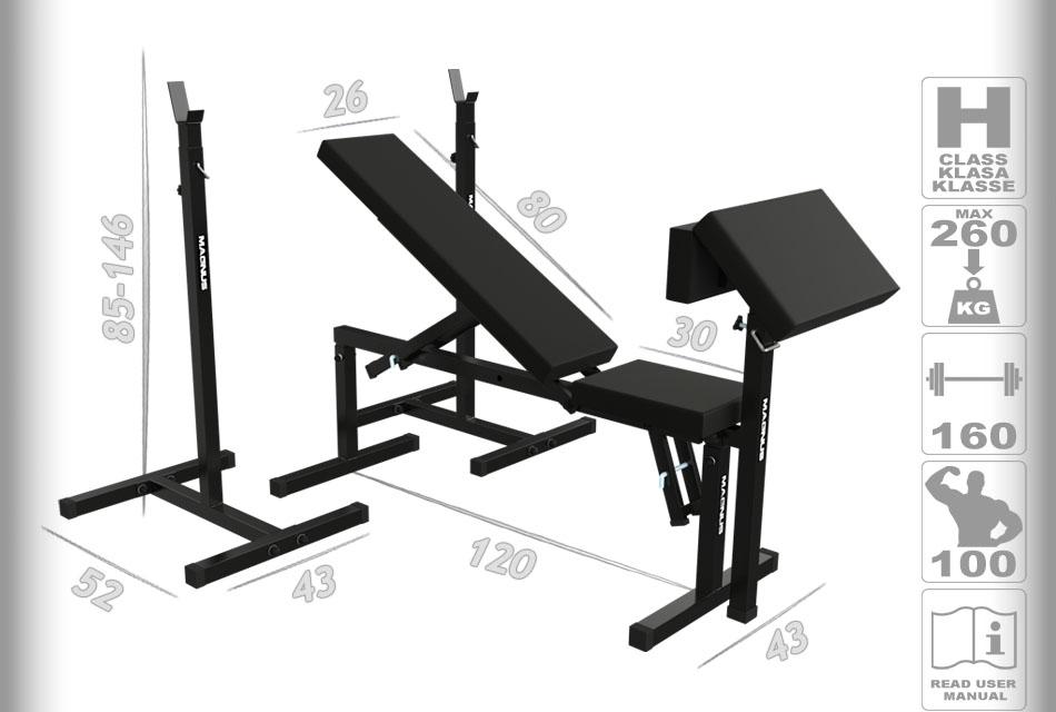 Ławka do ćwiczeń, trening na ławce, ćwiczenia na klatkę, ławeczka regulowana