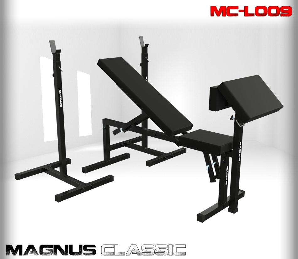 Ławka regulowana do ćwiczeń Magnus Classic MC-L009