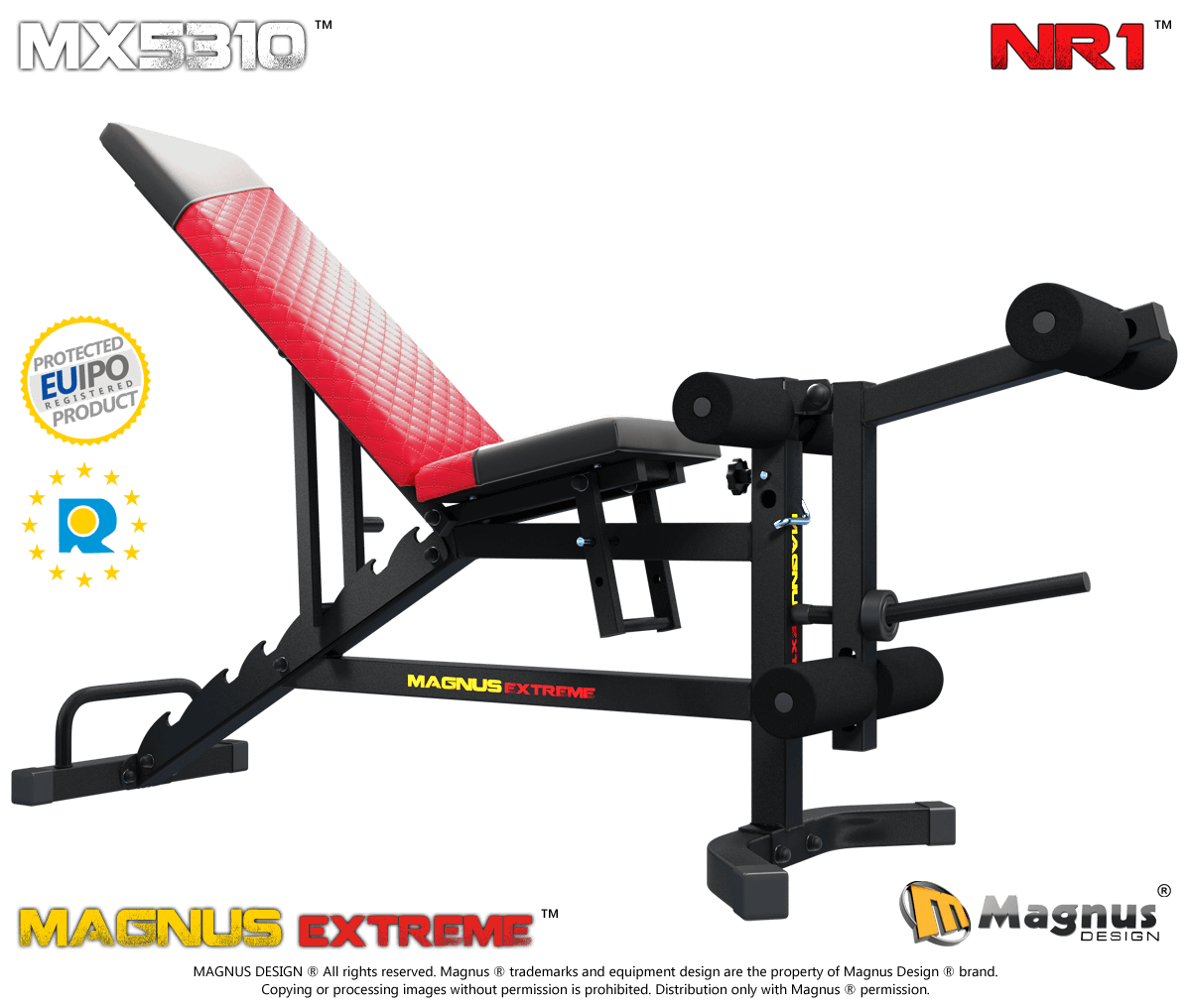 Multifunctional attachment for legs and thigs training from Magnus