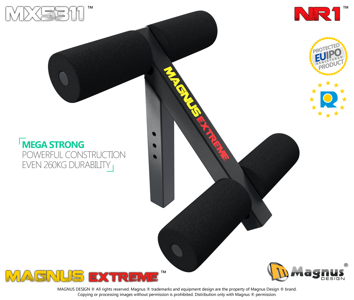 Leg lock down for abs muscles training Magnus MX5311