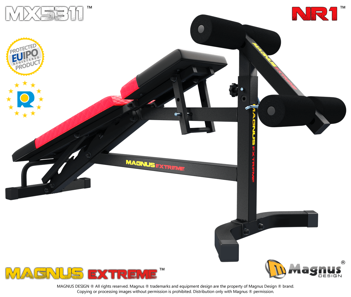 Equipment for abdominal muscles training from Magnus