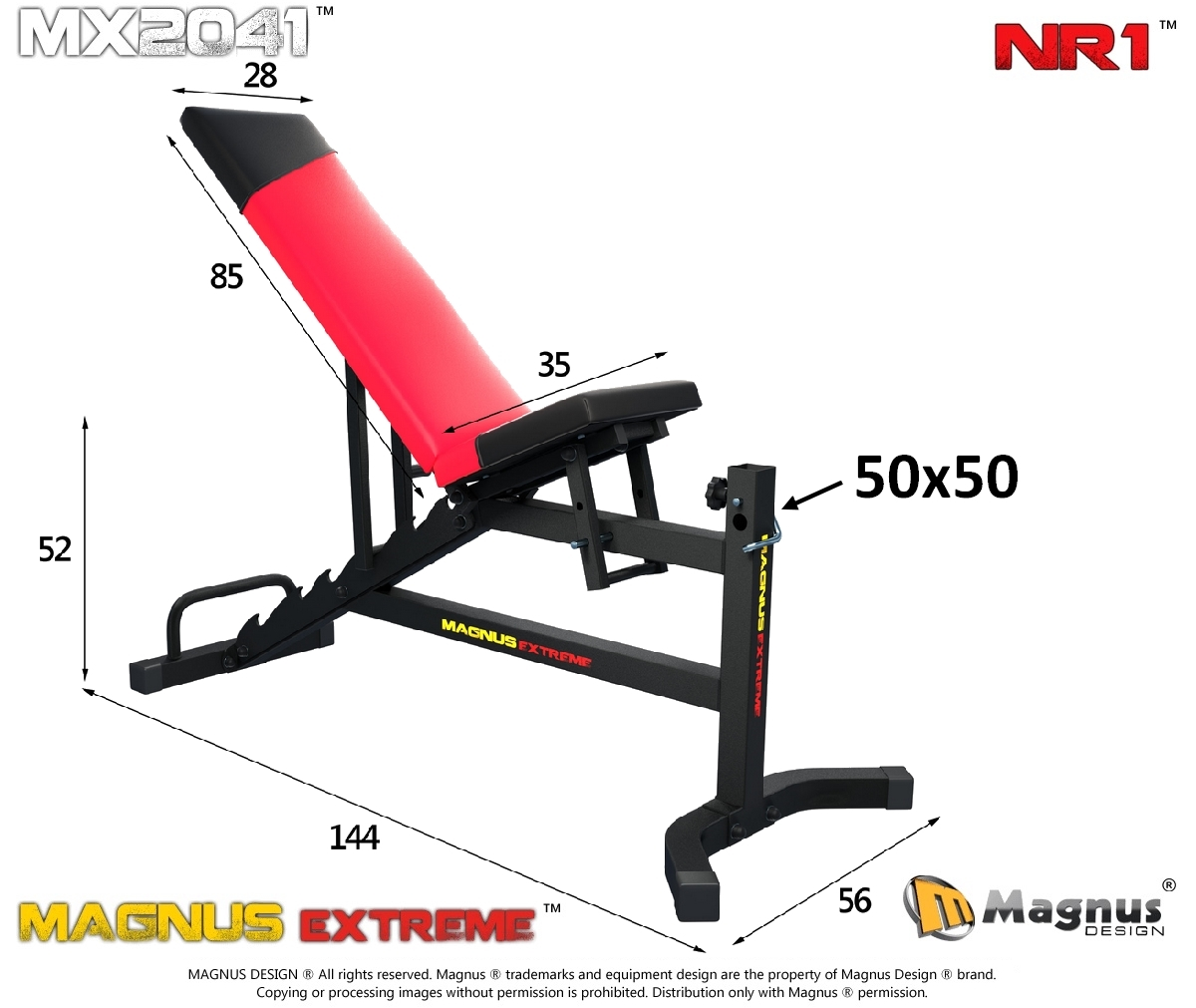 Reinforced exercise bench , train your muscles in the gym