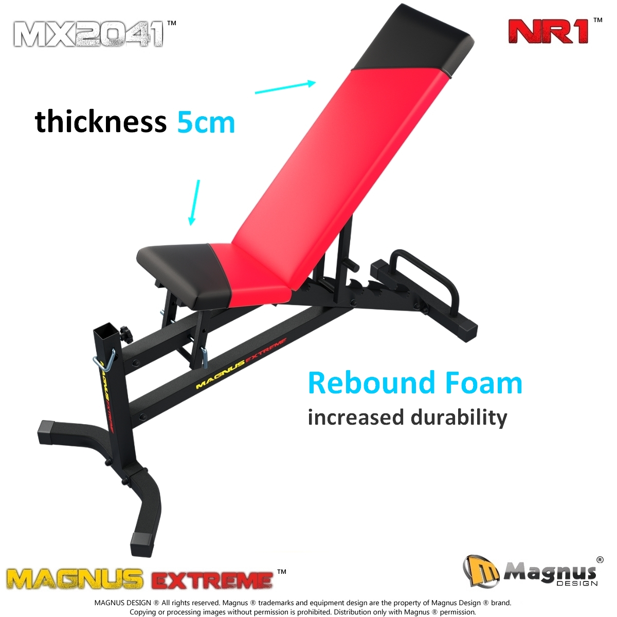 Durable exercise bench from Magnus Design