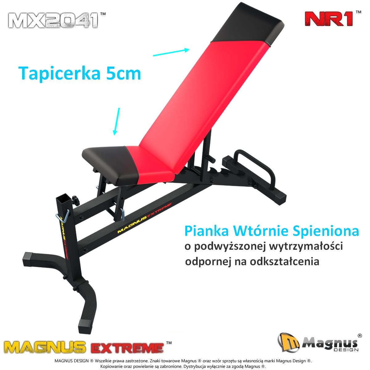 Wytrzymała ławka do ćwiczeń od Magnus Design