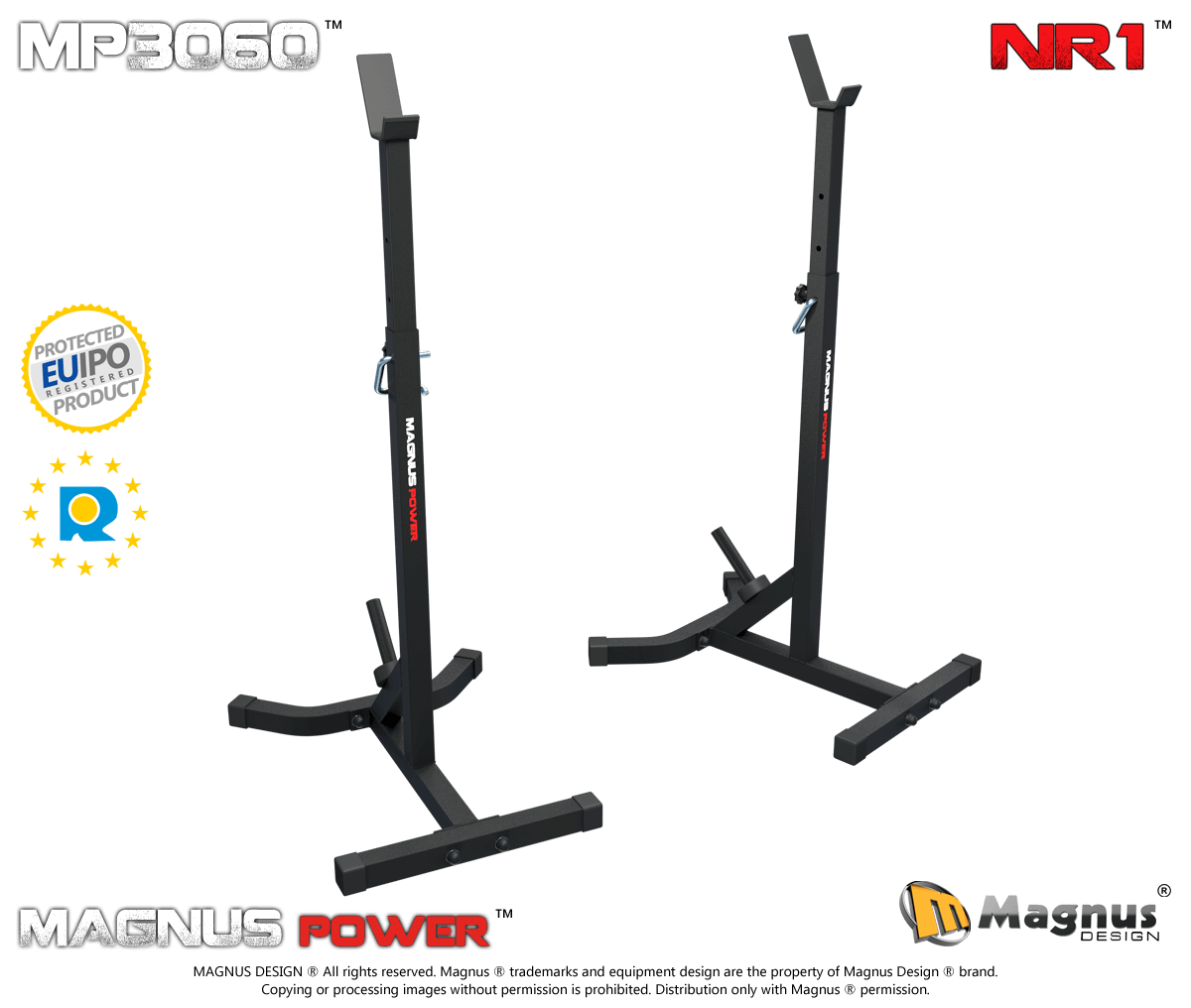 Training stands for barbell Magnus Power MP3060