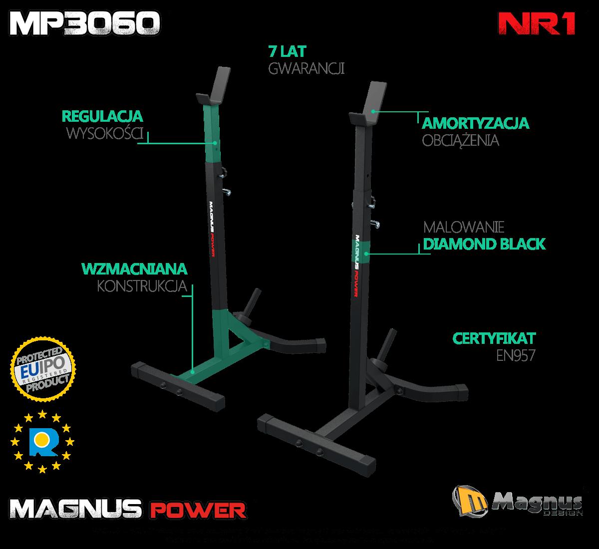 Nowość - trenuj bezpiecznie dzięki stojakom treningowym Magnus
