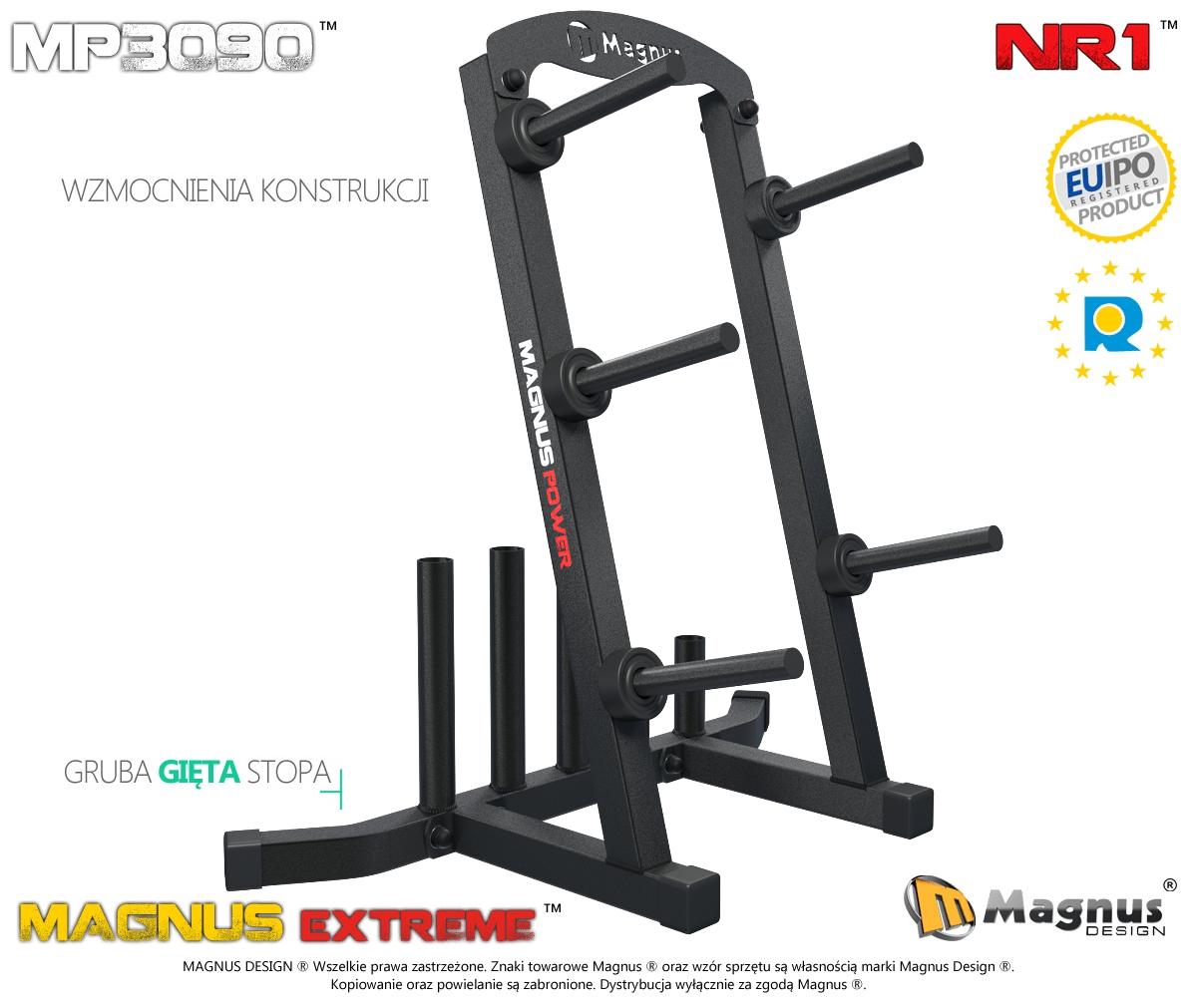 Wzmacniana konstrukcja zapewnia stabilność stojakom do siłowni