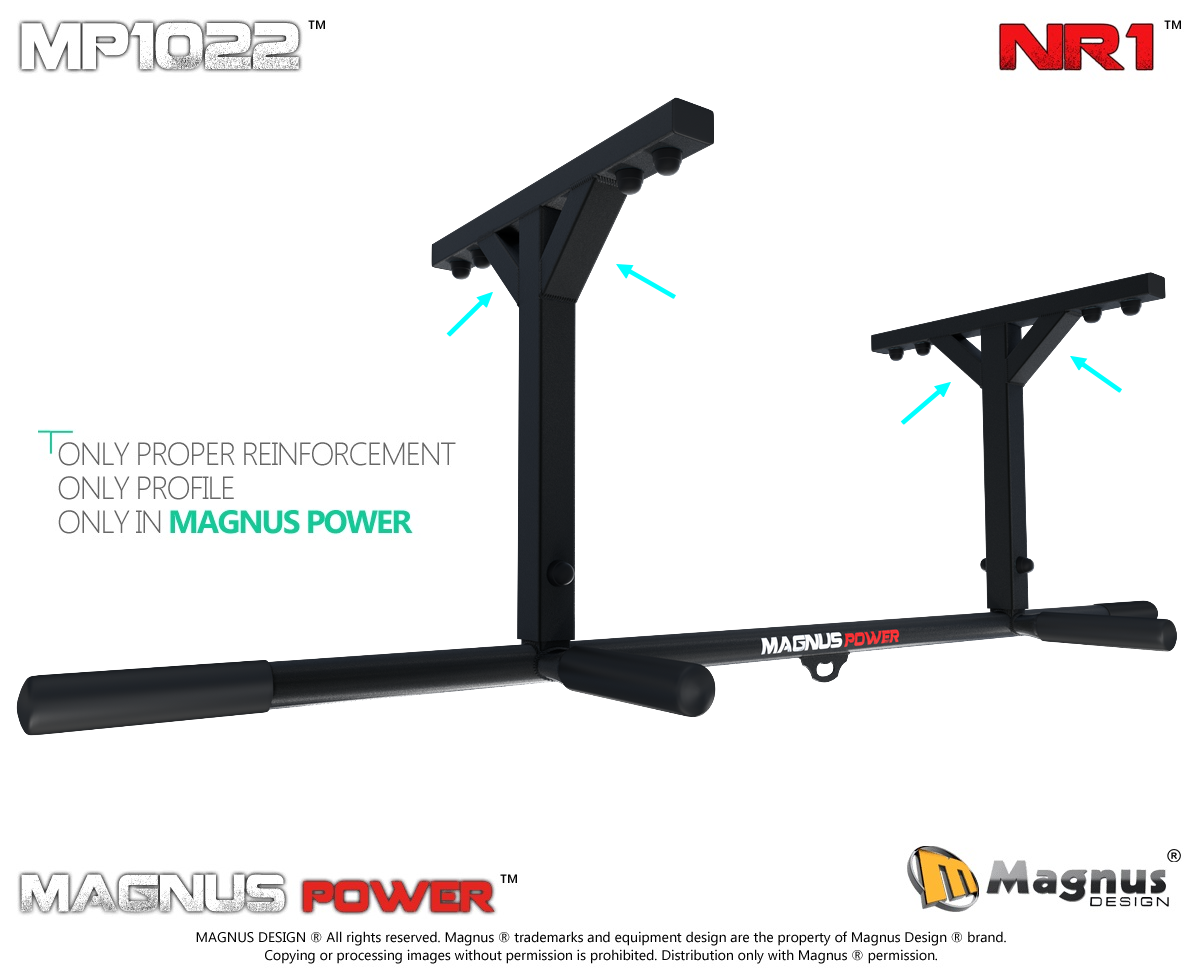Reinforced chin up bars from Magnus