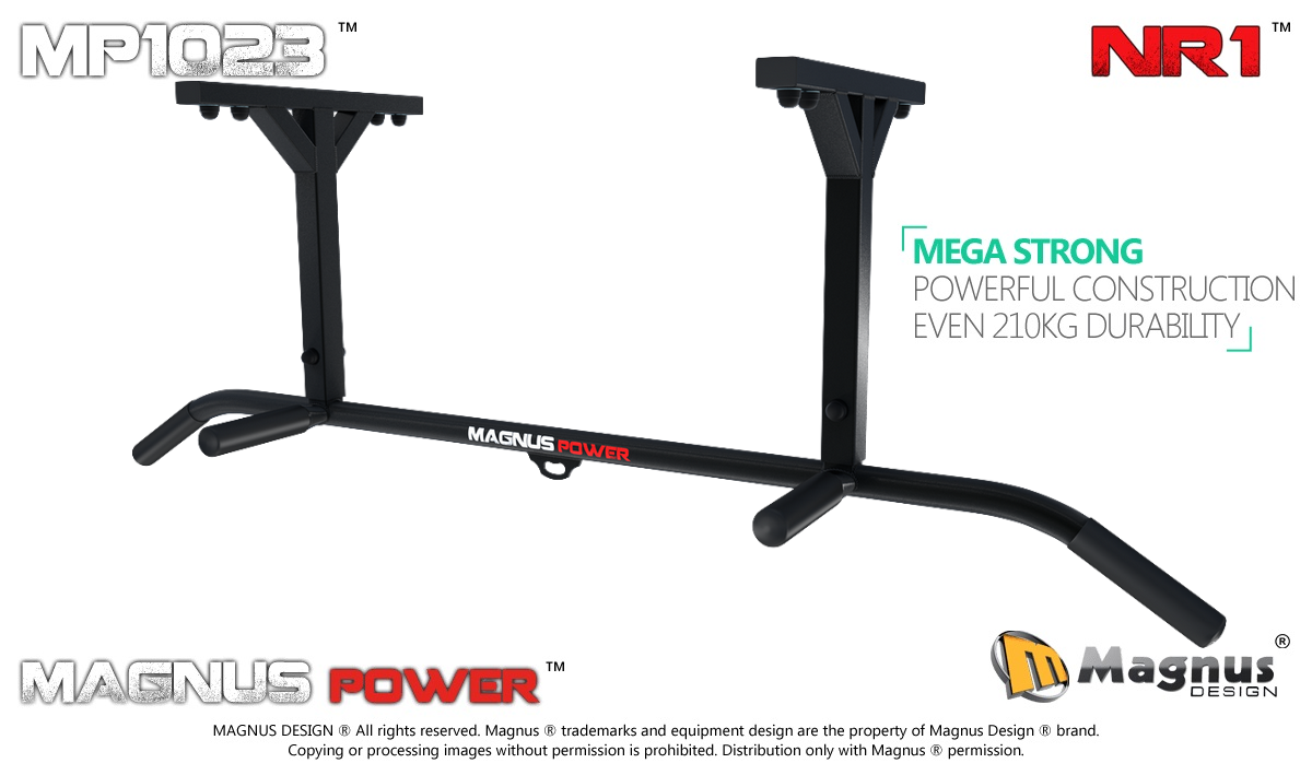 Ceiling mounted pull up bar Magnus MP1023 for exercises
