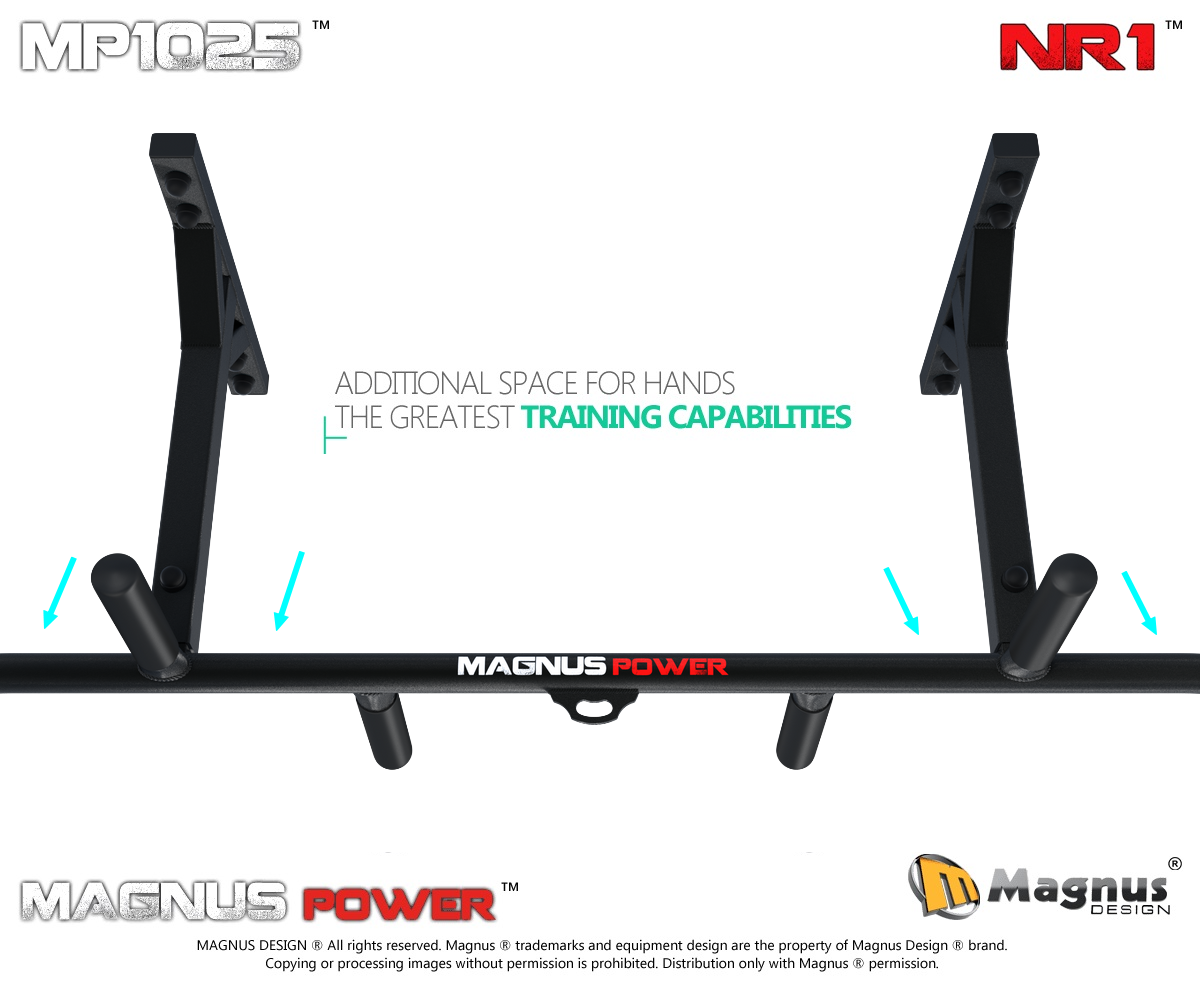 Comfortable workout on Magnus pull up bar
